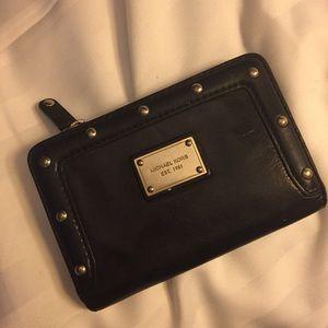 Michael Kors Black Leather Studded Wallet